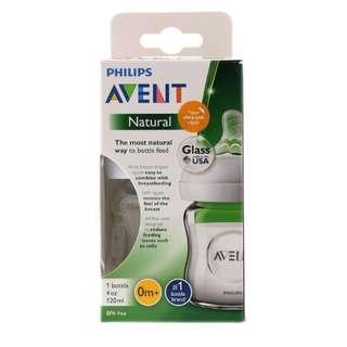 Philips Avent, Natural Glass Bottle, 0+ Months, 1 Bottle, 4 oz (120 ml)