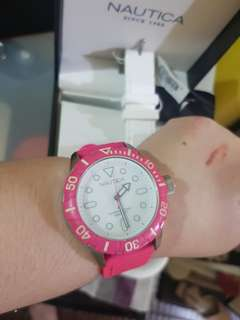 Nautica hot pink watch