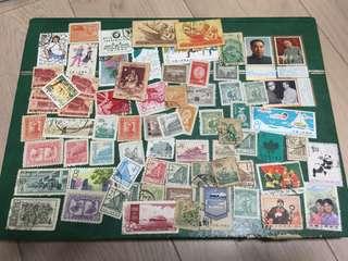 50-70年代 中國郵票一堆 大約70多枚