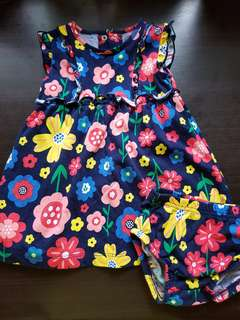 Flower Dress (3-6 mos)