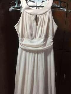 pale peach glittery empress gown