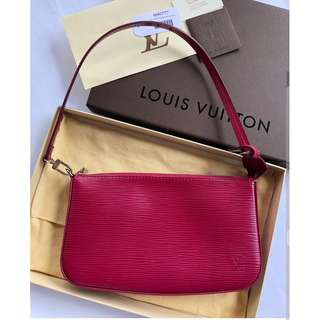 Louis Vuitton Pochette Epi in Fuchsia (Authentic)