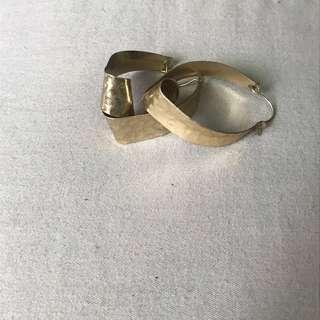 🚚 金色雙圈耳環🌙