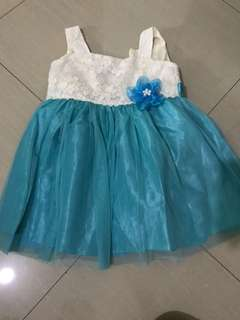 Used Once Teal Gown