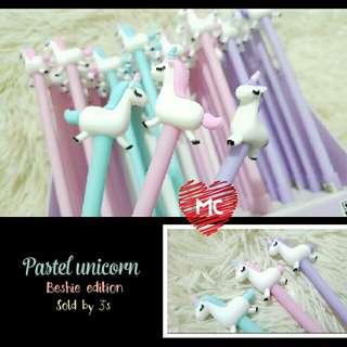 3pcs Unicorn pens