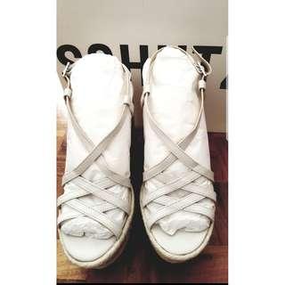 Schutz Wedge in White (Authentic)