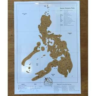 Philippine Scratch Map Novelty Gift