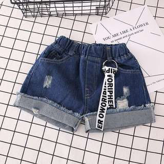 Denim Shorts女大童短裤