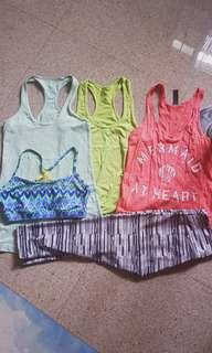 Lot of activewear (lululemon, fablethics, marika)