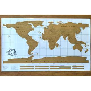 World Scratch Map Novelty Gift