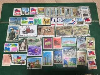 60-70年代 台灣郵票 40多枚
