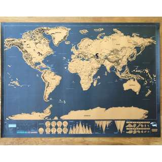 World Scratch Map Deluxe Novelty Gift