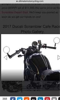 Ducati Scrambler cafe racer - CLIP-ONs handlebar