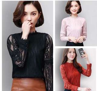 Lace Long sleeves Blouse