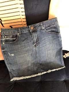 Forever New Denim Skirt Size 10