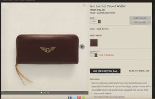 RRL / Double RL A-2 Leather Travel Wallet