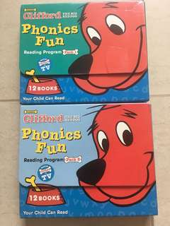 Scholastic Clifford The Big Red Dog Phonics Fun Reading Program Packs 1 & 5