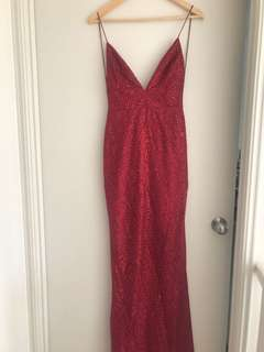 🔥Meshki Red Sparkly Formal Dress