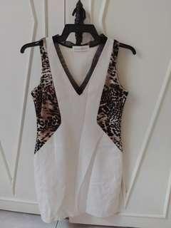 Zara Like Offwhite shift dress