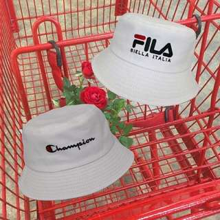 CHAMPION & FILA EMBROIDERED BUCKET HAT