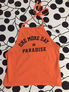 H&M orange halter top
