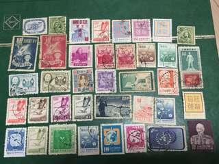 50-60年代 台灣郵票39枚