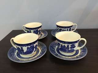 Tea Cup Set willow pattern