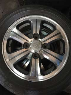 Used rim 14 inch proton with tires