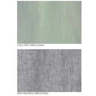 Mint and Grey Linen by the metre