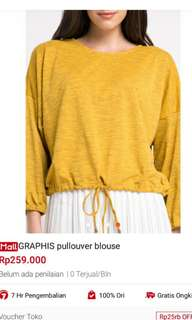 GRAPHIS PULL OVER BLOUSE