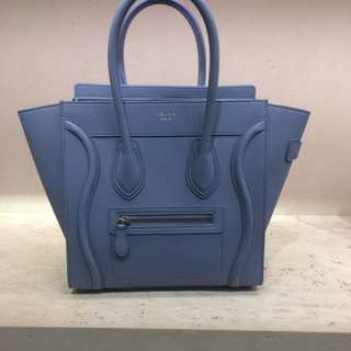Celine Luggage medium blue