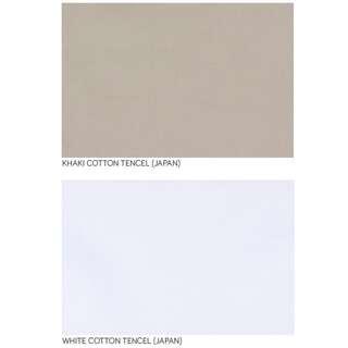 Japanese Khaki & White Cotton Tencel by the metre