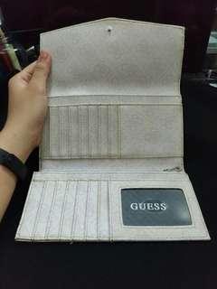 GUESS Eloise SLG White Stone Long Tri-fold Wallet
