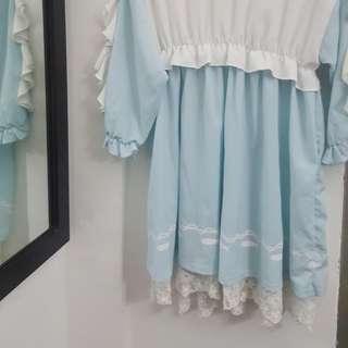 ruffled lolita ish dress