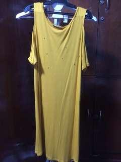 zara shoulder cutout dress