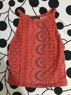 Terranova red aztec top