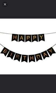 Happy Birthday Bunting. Happy birthday banner.