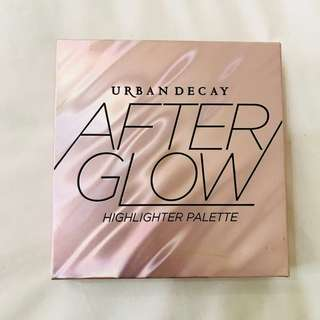BNIB BNIP BN urban decay after glow highlighter palette authentic ud