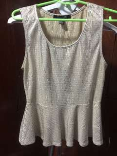 forever 21 silver and gold glitter top