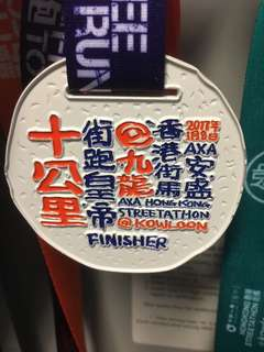 AXA HK STREETATHON@ Kowloon 2017 FINISHER 10Km