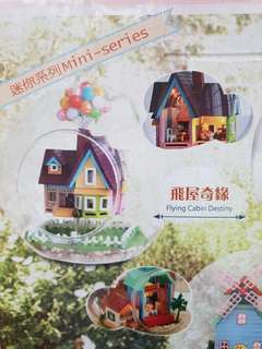DIY Terrarium Miniature House Up Dollhouse Glass Ball Kit