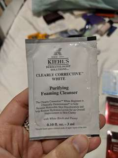 Kiehl's clearly corrective white purifying foaming cleanser