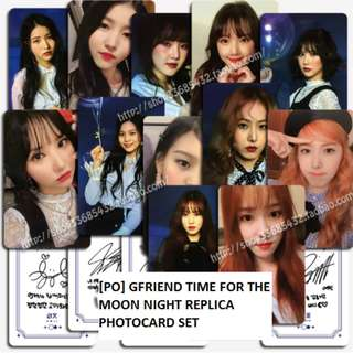 [PO] Gfriend Time for the Moon Night Replica Photocard Set