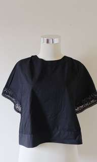 This is April black laced top