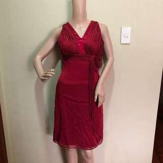 Ronald enrico red dress