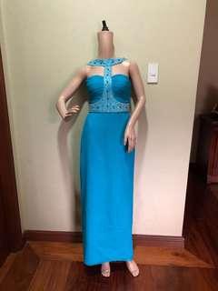 Ronald enrico blue gown