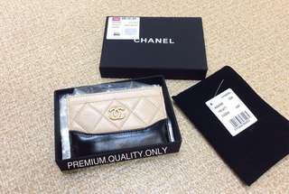 Chanel Gabrielle Card Holder- beige