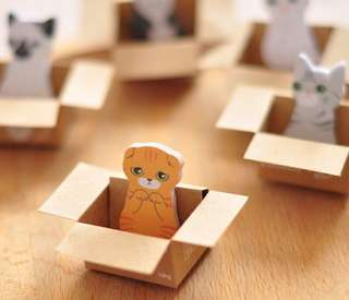 [PWP] Cat Sticky Note With Box