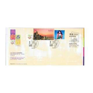 A1-2003-0408-SP1,香港首日封貼郵展1號小全張附陳慧琳玉照-華彩香江印