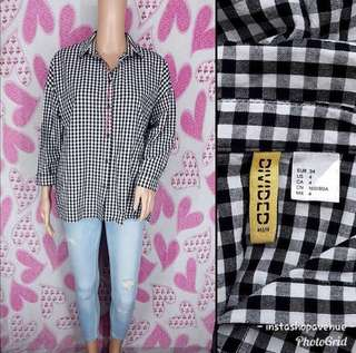 H&M Gingham Checkered Polo Longsleeves
